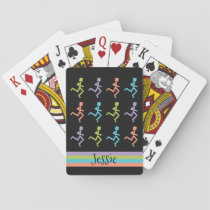 Personalized Runners Running Add Text Template Playing Cards