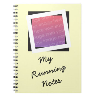Personalized Running Add Photo and Text Notebook