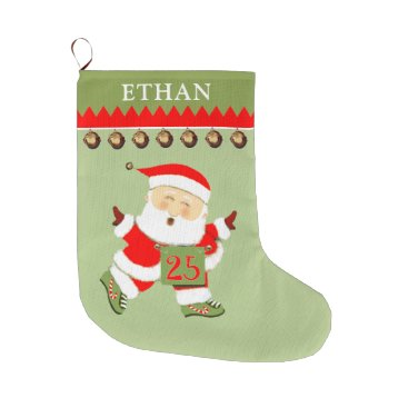 Beach Themed personalized Running Large Christmas Stocking