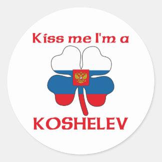 Personalized Russian Kiss Me I'm Koshelev Classic Round Sticker