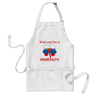Personalized Russian Kiss Me I'm Smirnov Adult Apron