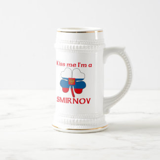 Personalized Russian Kiss Me I'm Smirnov 18 Oz Beer Stein