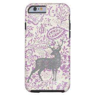 Personalized Rustic Deer Vintage Floral Geometric Tough iPhone 6 Case
