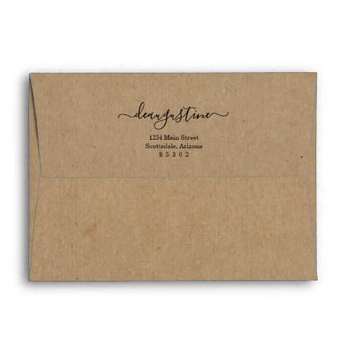 Personalized Rustic Kraft Paper Background Envelope