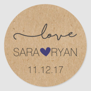 "Personalized, Rustic ""Love"" Stickers"