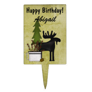 Moose Cake Toppers | Zazzle