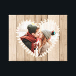 "Personalized Rustic Photo Heart Canvas<br><div class=""desc"">Personalize this rustic photo heart canvas with  your own photo. It"