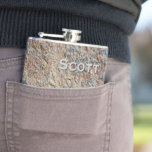 Personalized Rustic Slate Rock Stone Template Hip Flasks