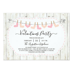 Personalized Rustic Valentine Day Party Invitation
