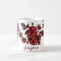 Personalized Rustic Vintage Red Roses mug