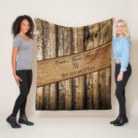 Personalized Rustic Wedding Gifts, Wedding Blanket