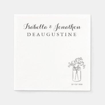 Toddler & Baby themed Personalized Rustic Wedding Mason Jar Paper Napkin