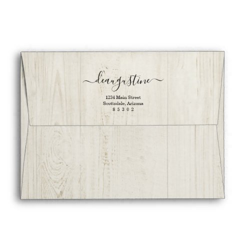 Personalized Rustic Wood Background Envelope
