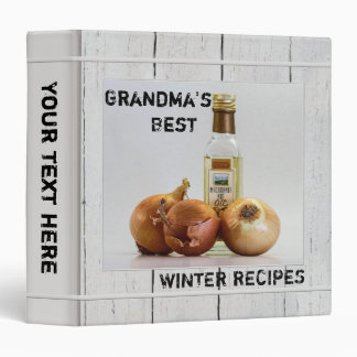 Personalized Rustic Wood Photo Recipe Binder
