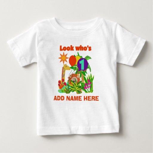 Personalized safari 1st birthday tshirt zazzle for Zazzle custom t shirts