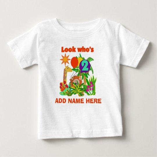 Personalized Safari 2nd Birthday Tshirt