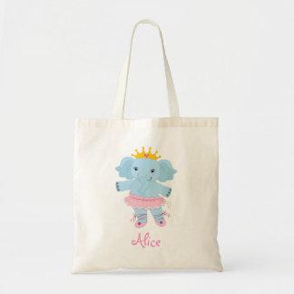Personalized Safari Ballerina Budget Tote Bag