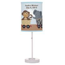 Personalized Safari Express Train Nursery Lamp