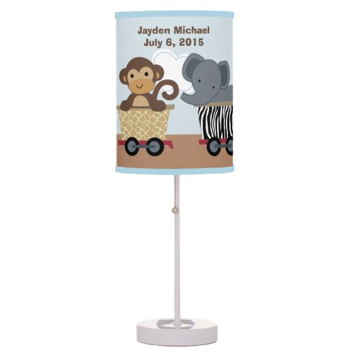 Personalized Safari Express Train Nursery Lamp