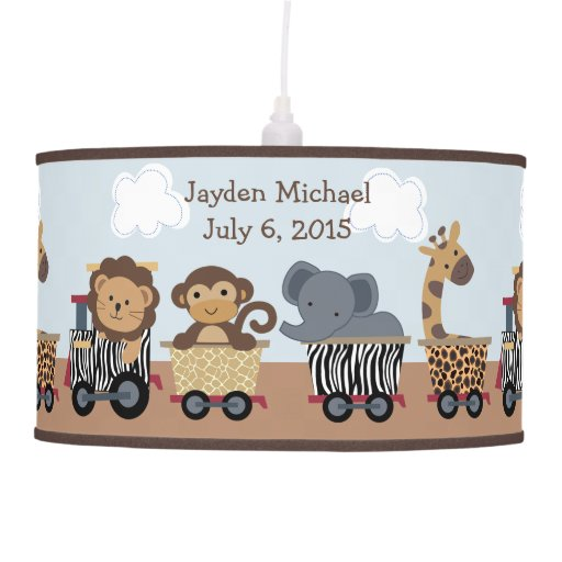 Personalized Safari Express Train Pendant Lamp
