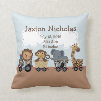 Personalized Safari Express Train Pillow Keepsake