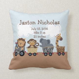 Personalized Safari Express Train Pillow Keepsake