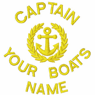 Personalized sailing boat captain and anchor