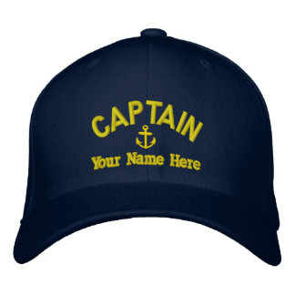 Personalized sailing captains baseball cap