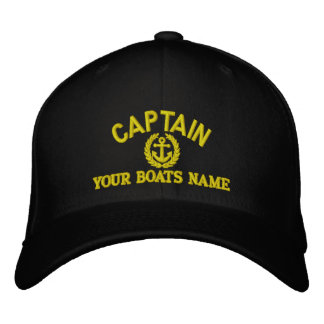 Personalized sailing captains with anchor embroidered hats