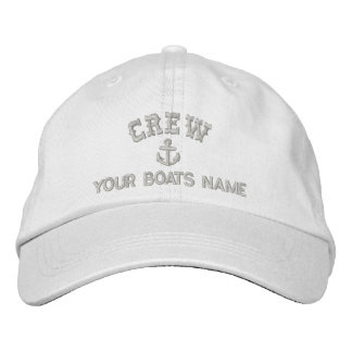 Personalized sailing crew embroidered baseball cap