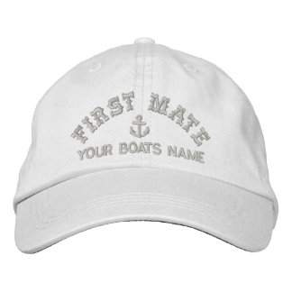Personalized sailing crew fist mate embroidered baseball caps
