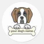 Personalized Saint Bernard Classic Round Sticker