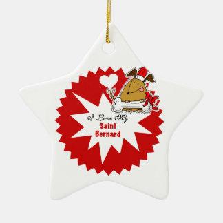 Personalized Saint Bernard  Keepsake Ornament