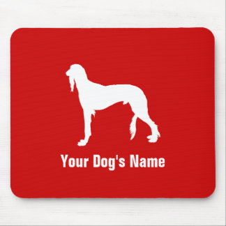 Personalized Saluki (or Gazelle Hound) サルーキ Mouse Pad