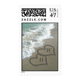 Personalized Sand writing on the beach Postage