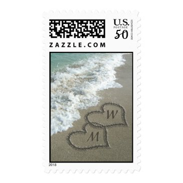 cutencomfy Personalized Sand writing on the beach Postage
