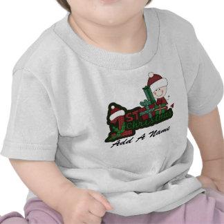 Personalized Santa Baby 1st Christmas Tshirt