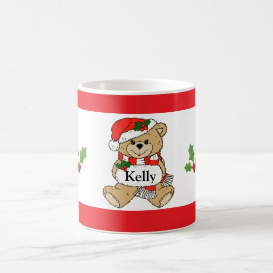 Personalized Santa Christmas Bear Coffee Mug