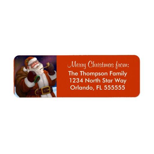 Personalized Santa Christmas Return Address Labels