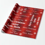 "Personalized Santa Christmas Wrapping Paper<br><div class=""desc"">Every child eagerly awaits for their gift from Santa every Christmas.  Add to the Christmas magic and wrap that eagerly awaited gift with personalized name wrapping paper from Santa.</div>"
