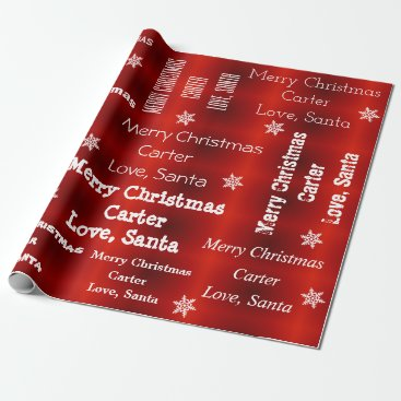 Christmas Themed Personalized Santa Christmas Wrapping Paper