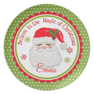 Personalized Santa Claus Plate