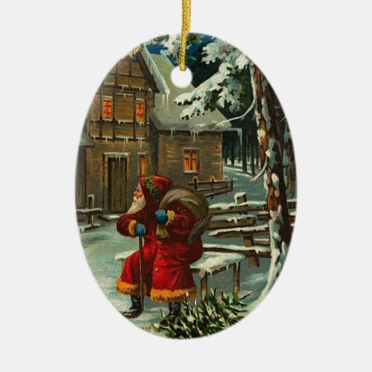Personalized Santa Claus Rests Christmas Ornament
