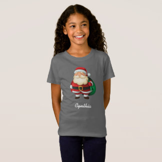 Personalized Santa Claus with sack of gifts T-Shirt