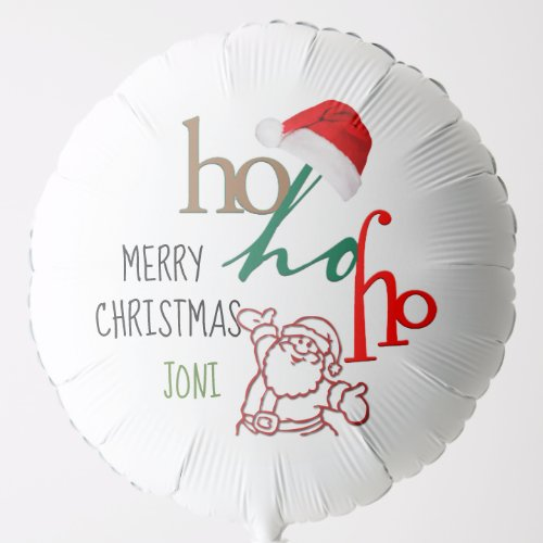 Personalized Santa Design Balloon
