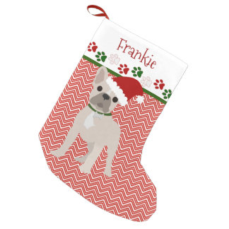 Personalized Santa French Bulldog Small Christmas Stocking