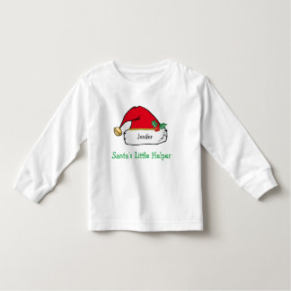 Personalized Santa Hat Christmas T-Shirt