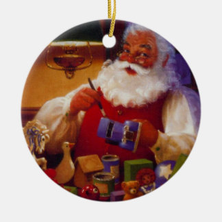Personalized Santa Painting Toy Christmas Ornament