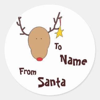 Personalized Santa Sticker