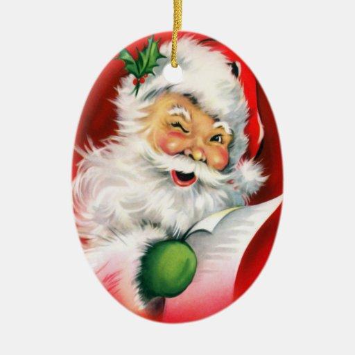 Personalized Santa Winking Christmas Ornament
